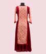 Peach and Red Kurti Casual Wear 3