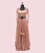 Peach Plazzo with Jacket Style 1