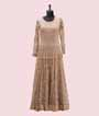 Beige Salwar Kameez with Chikan Embroidery 2