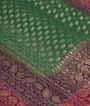 Green Banarasi Saree Khadi Georgette Anttic Zari 2