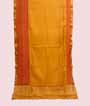 Yellow Tussar Silk Saree Katha Work 1