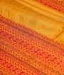 Yellow Tussar Silk Saree Katha Work 2