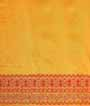 Yellow Tussar Silk Saree Katha Work 3