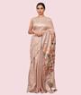 Beige Tussar Silk Saree Ghicha Work 2
