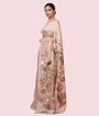 Beige Tussar Silk Saree Ghicha Work 3