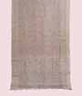 Light Grey Linen Saree With Embroidery 1