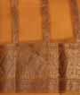 Orange Banarasi Saree Kora Hf Gold Zari 3