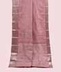 Onion Pink Kanjivaram Saree In Silver Zari 1
