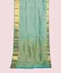 Light Green Kanjivaram Saree In Gold Zari 1