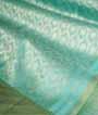 Light Green Kanjivaram Saree In Gold Zari 2
