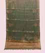 Olive Green Tissue Kota Saree Zardosi With Stone Work 1