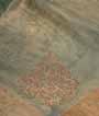 Olive Green Tissue Kota Saree Zardosi With Stone Work 2