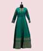 Green Salwar Kameez in Banarasi Silk 2