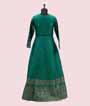 Green Salwar Kameez in Banarasi Silk 3