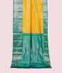 Yellow Kanjivaram Saree In Silver Zari 1
