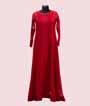 Stylish Full Length Red Striped Kurti  1