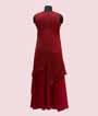 Stylish Two Layered Maroon Red Kurti  3