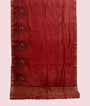 Rust Tussar Silk Saree Thread Work 1