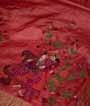 Rust Tussar Silk Saree Thread Work 2