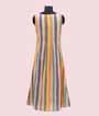 Beige And Multicolour Linen Cotton Kurti  2