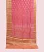 Pink Linen Saree With Banarasi Zari 1