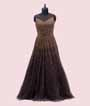 Grey Gown with Pearls and Cutdana 1