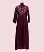 Wine Kurti In Soft Silk With Handwork 1