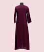Wine Kurti In Soft Silk With Handwork 3