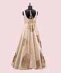 Cream Salwar Kameez in Silk With Applic Leather Work 3