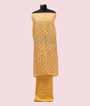 Mango Yellow Unstitched Linen Salwar Kameez 3
