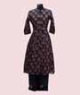 Printed Navy Blue Kurti Set  1