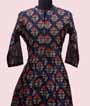 Printed Navy Blue Kurti Set  2