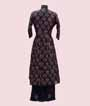 Printed Navy Blue Kurti Set  3