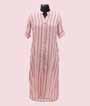 White and Peach Stripes Kurti Casual Wear 1