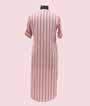 White and Peach Stripes Kurti Casual Wear 2