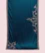 Rama Green Satin Saree With Silver Work 1