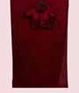 Maroon Crepe Saree With Swarovski Work And Stitched Blouse 1