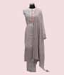 Grey Unstitched Chanderi Salwar Kameez 1