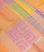 Multicolour Banarasi Cotton Saree With Anttic Zari 2