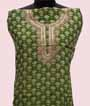 Mehandi Green Unstitched Chanderi Salwar Kameez 2
