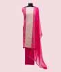 Pink and White Unstitched Chanderi Salwar Kameez 1