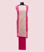 Pink and White Unstitched Chanderi Salwar Kameez 3