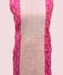 Pink and White Unstitched Chanderi Salwar Kameez 2