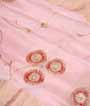 Baby Pink Muga Silk Saree With Cutdana Work 2