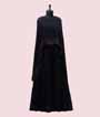Navy Blue Cape Gown  1