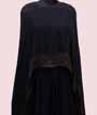 Navy Blue Cape Gown  2