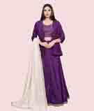 Purple Lehenga Choli 1