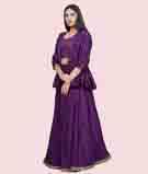 Purple Lehenga Choli 2