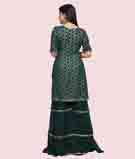 Bottle Green Salwar Kameez 3