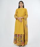 Mustard Salwar Kameez 1